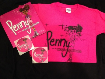 Penny pink & black tee and book bundle